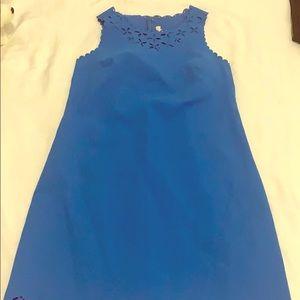 J. Crew blue shift dress size 4P